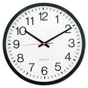 Universal Round Wall Clock, 12 1/2 inch dia., Black