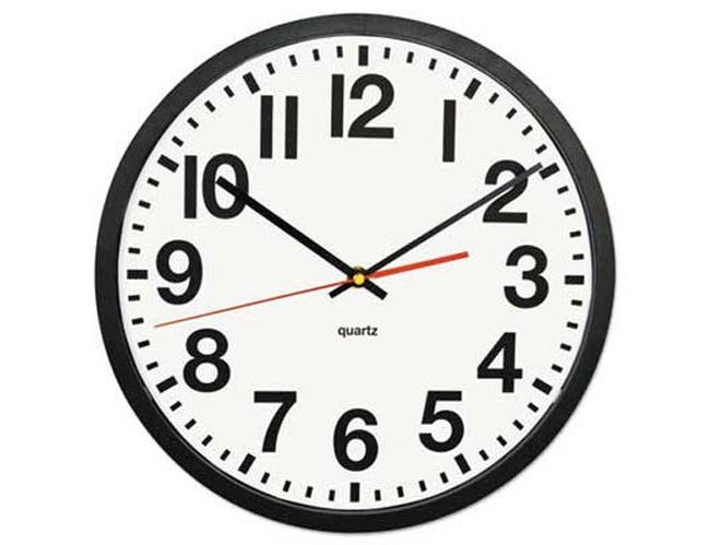 Universal Large Numeral Clock, 13 inch, Black