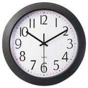 Universal One Whisper Quiet Clock, 12 inch, Black