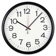 Universal Indoor/Outdoor Clock, 13-1/2 inch, Black