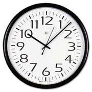 Universal Round Wall Clock, Black, 12 inch