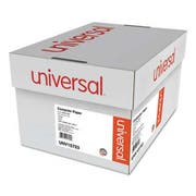 Universal Green Bar Computer Paper, 2-Part Carbonless, 14-7/8 x11, Perforated, 1650 Sheets