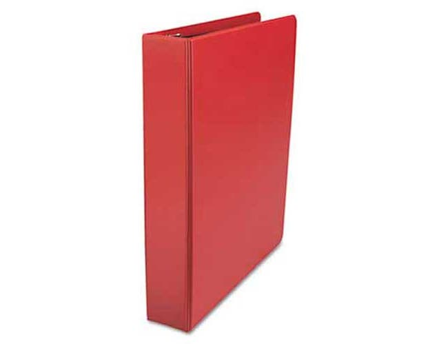 Universal One D-Ring Binder, 1-1/2 inch Capacity, 8-1/2 x 11, Red