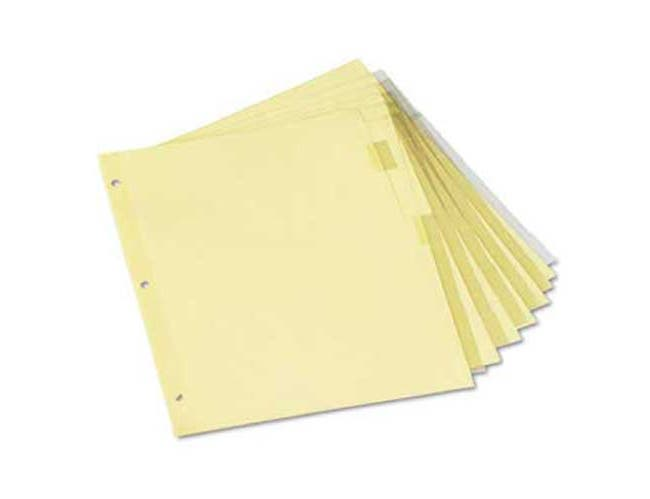 Universal Economical Insertable Index, Clear Tabs, 8-Tab, Letter, Buff, 6 Sets/Pack