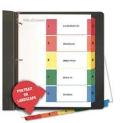 Universal One Table of Contents Dividers, Assorted Color 5-Tab, 1-5, Letter, White, 6/Pack