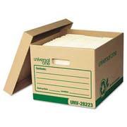 Universal One Recycled Record Storage Box, Letter/Legal, 12 x 15 x 10, Kraft, 12/Carton