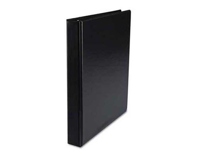 Universal Suede Finish Round Ring Binder, 1 inch Capacity, Black