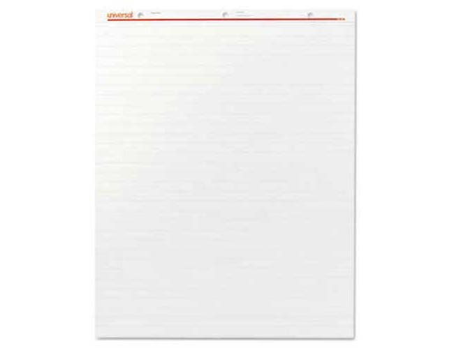 Universal Recycled Easel Pads, Faint Rule, 27 x 34, White, 50-Sheet 2/Carton