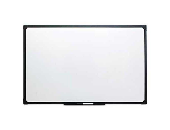 Universal One Dry Erase Board, Melamine, 36 x 24, Black Frame