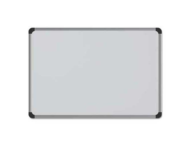 Universal One Cork Board with Aluminum Frame, 36 x 24, Natural, Silver Frame