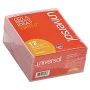 "Universal ""Important Message"" Pink Pads, 4-1/4 x 5-1/2, 50/Pad, 1/Dozen"