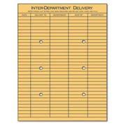 Universal Light Brown Kraft String & Button Interoffice Envelope, 10 x 13, 100/Box