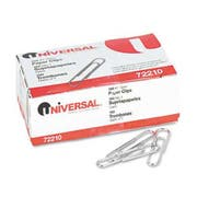 Universal Paper Clips, Smooth Finish, No. 1, Silver, 1000/Pack