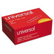 Universal Smooth Paper Clips, Wire, Jumbo, Silver, 100/Box, 10 Boxes/Pack