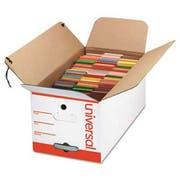 Universal Economy Storage Box, Tie Close, Letter, Fiberboard, White, 12/Ct