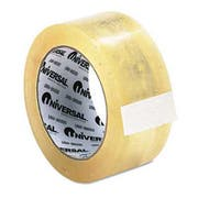 Universal One Heavy-Duty Box Sealing Tape, 48mm x 50m, 3 inch Core, Clear, 12/Pack