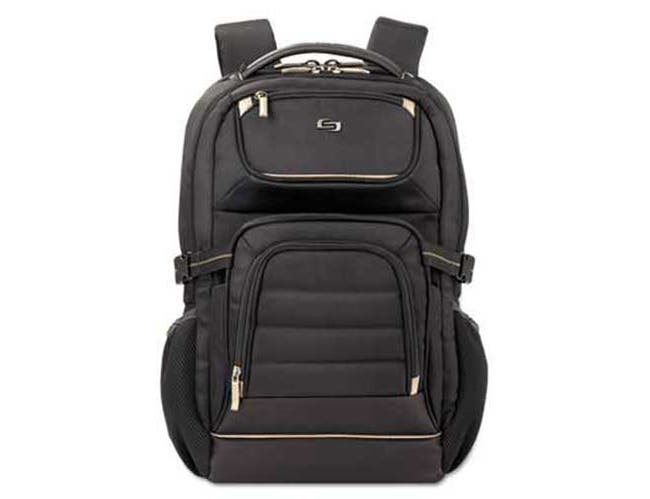 SOLO Pro Laptop Backpack, 17.3 inch, 12 1/2 x 7 1/2 x 18, Black