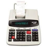Victor 1297 Two-Color Commercial Printing Calculator, Black/Red Print, 4 Lines/Sec