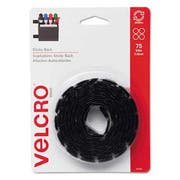 Velcro Sticky-Back Hook and Loop Dot Fasteners, 5/8 Inch, Black, 75/Pack