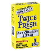 Twice as Fresh Heavy Duty Coin-Vend Powdered Chlorine Bleach, 1 load, 100/Carton