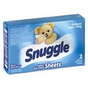 Snuggle Vend-Design Fabric Softener Sheets, Blue Sparkle, 2 Sheets/Box, 100 Boxes/Carton