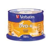 Verbatim DVD-R Discs, 4.7GB, 16x, Spindle, Silver, 50/Pack