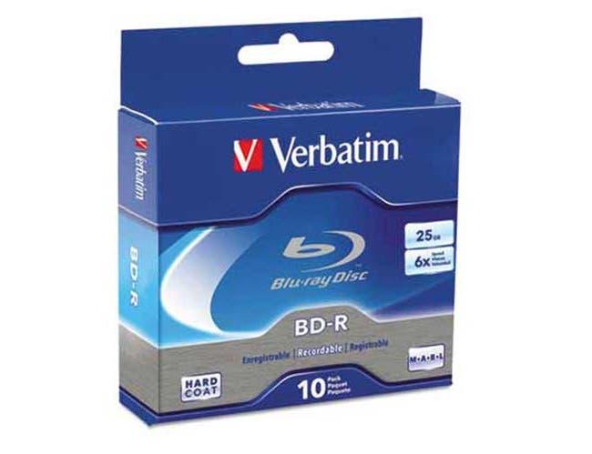 Verbatim BD-R Blu-Ray Disc, 25GB, 6x, 10/Pk