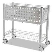 Vertiflex Smartworx File Cart, One-Shelf, 28 1/4w x 13 3/4d x 27 3/8h, Matte Gray
