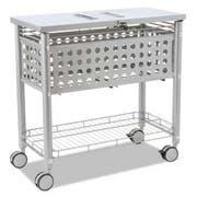 Vertiflex Smartworx File Cart, One-Shelf, 29 1/8w x 14d x 28 3/8h, Matte Gray