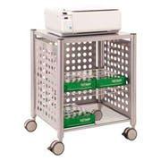 Vertiflex Deskside Machine Stand, Two-Shelf, 21 1/2w x 17 7/8d x 27h, Matte Gray