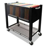 Vertiflex InstaCart File Cart, 15w x 28-1/2d x 27-3/4h, Black