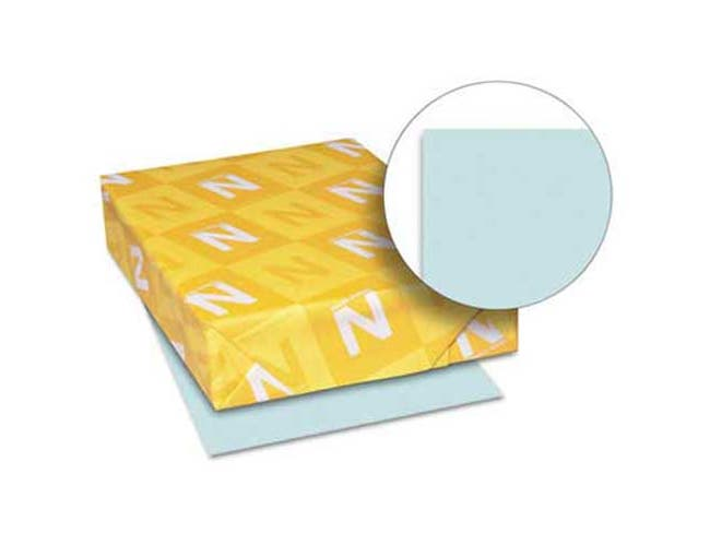Neenah Paper Exact Index Card Stock, 110 lbs., 8-1/2 x 11, Blue, 250 Sheets/Pack