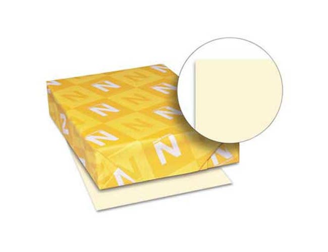 Neenah Paper Exact Index Card Stock, 110 lbs., 8-1/2 x 11, Ivory, 250 Sheets/Pack