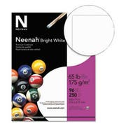 Neenah Paper Bright White Card Stock, 65 lbs., 8-1/2 x 11, Bright White, 250 Sheets/Pack