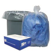 Classic Clear Clear Low-Density Can Liners, 56gal, .9 Mil, 43 x 47, Clear, 100/Carton