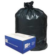 Classic 2-Ply Low-Density Can Liners, 56gal, .9 Mil, 43 x 47, Black, 100/Carton