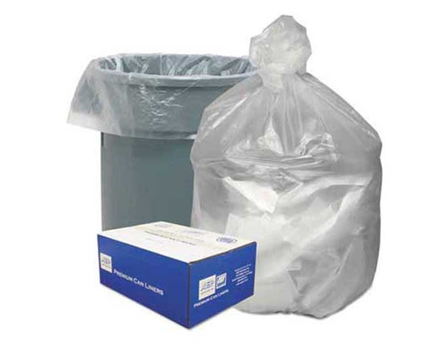Good n Tuff High Density Waste Can Liners, 56gal, 14 Microns, 43 x 46, Natural, 200/Carton