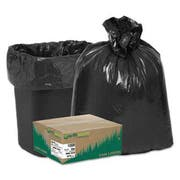 Earthsense Commercial Recycled Can Liners, 16gal, .85 Mil, 24 x 33, Black, 500/Carton