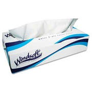 Windsoft Facial Tissue in Pop-Up Box, 100/Box, 6 Boxes/Pack