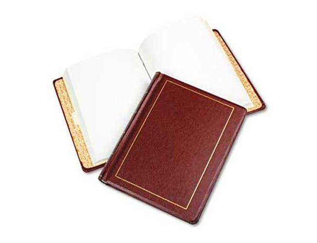 Wilson Jones Looseleaf Minute Book, Red Leather-Like Cover, 125 Pages (250 Cap), 8 1/2 x 11