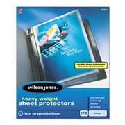 Wilson Jones Heavy Weight Sheet Protector, Clear, 50/Box