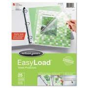 Wilson Jones Easy Load Sheet Protector, 25/Pack