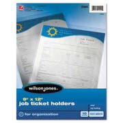 Wilson Jones Job Ticket Holder, Non-Glare Finish, Clear Front/Frosted Back, 10/Pack