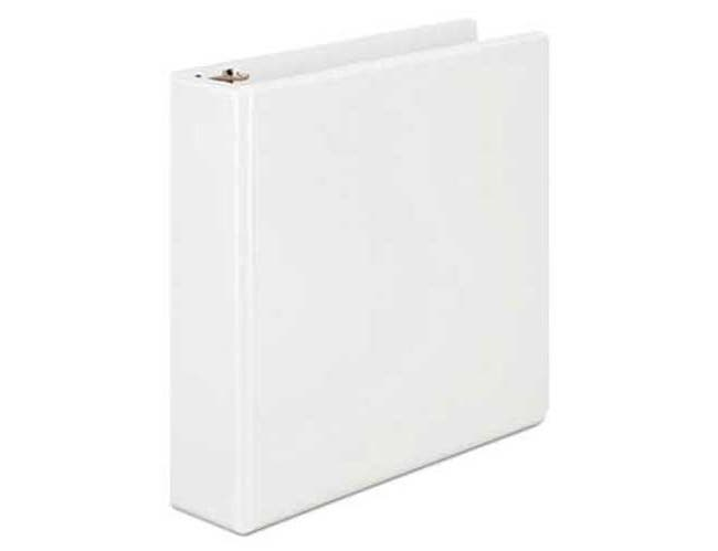 Wilson Jones Basic D-Ring View Binder, 2 inch Cap, White