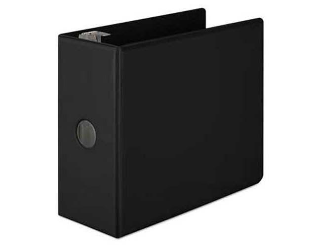 Wilson Jones Basic D-Ring View Binder, 5 inch Cap, Black
