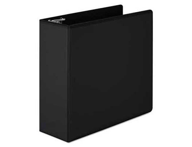Wilson Jones Basic D-Ring View Binder, 4 inch Cap, Black