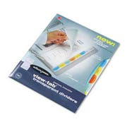 Wilson Jones View-Tab Transparent Index Dividers, 8-Tab, Square, Letter, Assorted, 8/Set