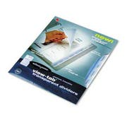 Wilson Jones View-Tab Transparent Index Dividers, 8-Tab, Square, Letter, Clear, 8/Set
