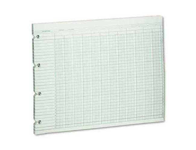 Wilson Jones Accounting Sheets, 20 Column, 9-1/4 x 11-7/8, 100 Loose Sheets/Pack, Green