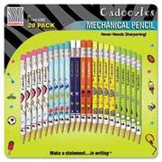 Zebra Cadoozles Mechanical Pencil, #2, Assorted Barrels, 0.7 mm, 28/Pack